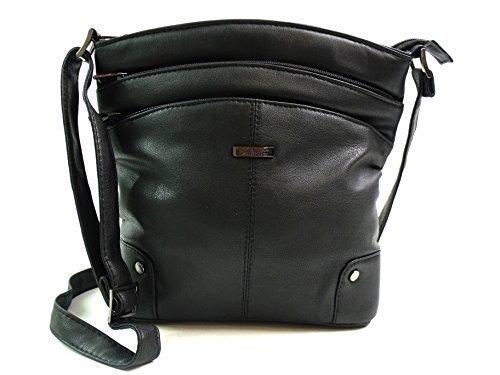 The Leather Emporium, Borsa a secchiello donna Nero (nero)