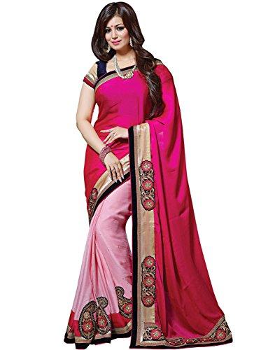 SareeShop Women's Faux Georgette party wear Fancy Saree With Blouse Piece (RUPARANI-sarees...