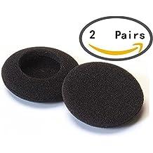 Hosaire 2 Pares de Fundas de Auriculares de Esponja de Color Negro 45mm