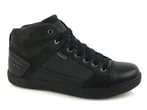 GEOX U Taiki B Amphibiox sneakers PELLE BLACK ANTHRACITE U641UA 44