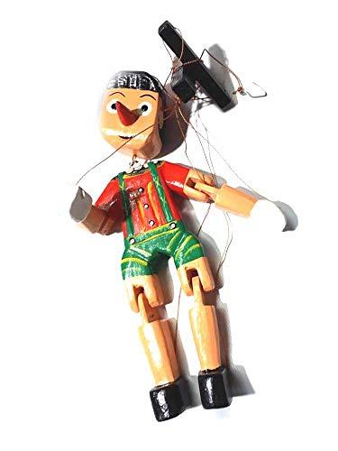 ricevi 1 Marionetta con Fili Altezza 25 cm Pinocchio, burattini per teatrino in Legno marionetta Artigianale burattino,PRESEPE ricevi Portachiavi Omaggio