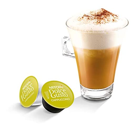 NESCAFÉ DOLCE GUSTO Cappuccino Coffee Pods, 16 Capsules (Pack of 3 – Total 48 Capsules, 24 Servings)
