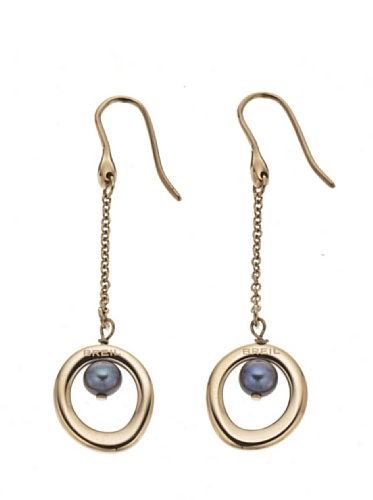ladies-breil-duplicity-rosegold-plated-earrings-with-artificial-pearl