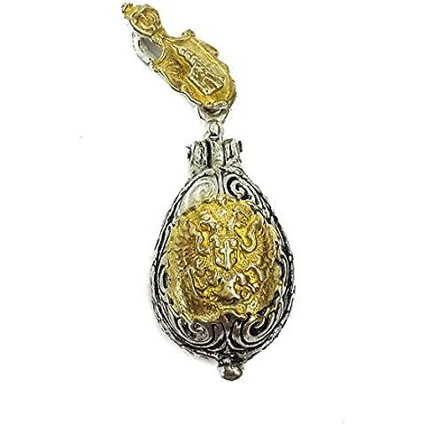 Vergine Maria e del bambino Jesus argento 925 ciondolo greca oro placcato Gerusalemme 1.1