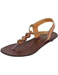 Catwalk Women's Beaded Back Strap Thong Sandals