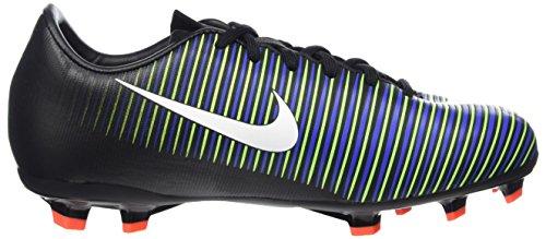 Nike Mercurial Victory Vi Fg, Chaussures de Football Mixte Enfant Multicolore (Black/wht-elctrc Grn-prmnt Bl)