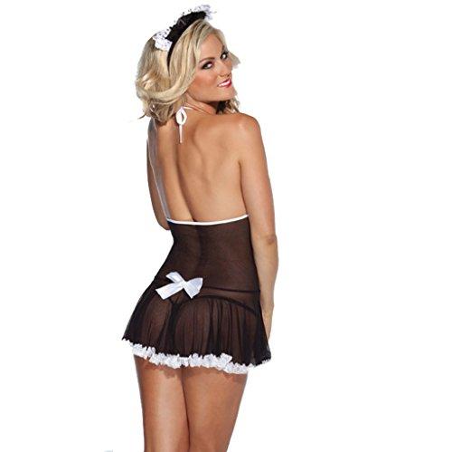 Ailin home- Europa und die Vereinigten Staaten sexy Unterwäsche sexy Damen Kleid Rock sexy Unterwäsche Schwarz