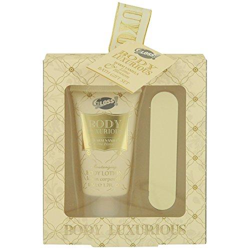 Gloss! Set de Bain Body Luxurious Or Vanille et Tilleul 2 Pièces