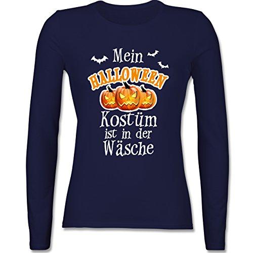 Shirtracer Halloween - Mein Halloween Kostüm ist in der Wäsche - XL - Navy Blau - BCTW013 - Damen ()