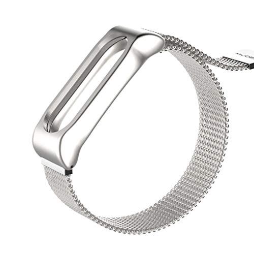 Preisvergleich Produktbild babysbreath17 Ersatz für Xiaomi Mi Band 2 Metal Edelstahl Armbänder Uhrenarmband ersetzen Wrist Straps Silber- 15-22cm
