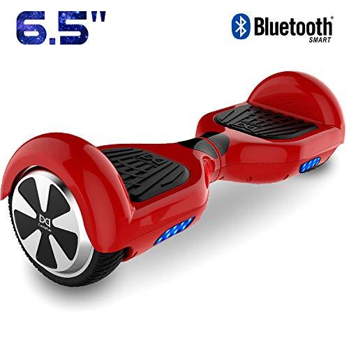 Cool&Fun Self Balance Scooter Elettrico, Balance Scooter con LED, Due Ruote 6.5', Batteria e Borsa Inclusa (Oro)