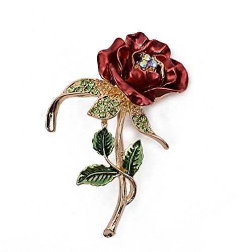 Cdet 1PC Femme Bijoux Broche Epingle en Alliage Forme de Feuilles de Fleurs Corsage Brooch de décoration Mode élégante Filles Style Nouveau