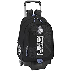 Safta Real Madrid Mochila escolar, 43 cm, Multicolor