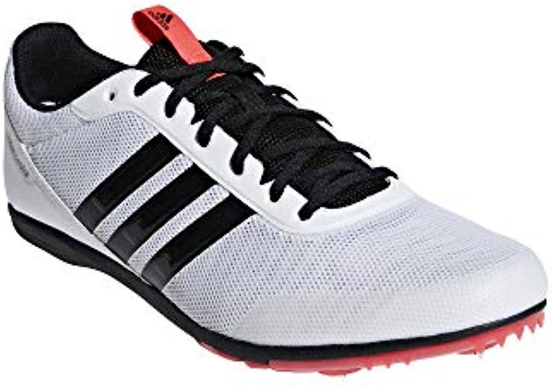Adidas Distancestar, Scarpe da Atletica Leggera Uomo, Bianco Bianco Bianco Ftwr bianca Core nero Shock rosso, 44 2 3 EU   Fornitura sufficiente  f15af6