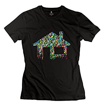 Onlyprint women 39 s love house music note t shirt size us for Love notes brand shirt