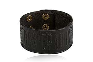 Bracelet Desperados en Cuir - Noir - 22 cm