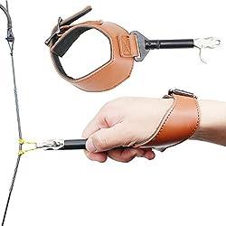 Hebilla Foldback Ajustable Compuesto Arco Disparador Disparador con Hebilla Correa para la muñeca Disparador Disparador Disparador Accesorios