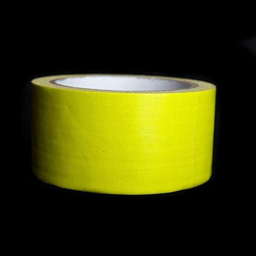4x Neon Klebeband - Neon Tape - Gaffa - Gewebeband - Duct Tape - Schwarzlicht - UV