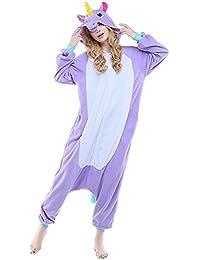 ABYED® Jumpsuit Tier Karton Fasching Halloween Kostüm Sleepsuit Cosplay Fleece-Overall Pyjama Schlafanzug Erwachsene Unisex Lounge