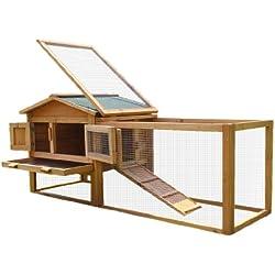 BUNNY BUSINESS doble Decker madera conejo/cobaya Hutch con zona de juegos