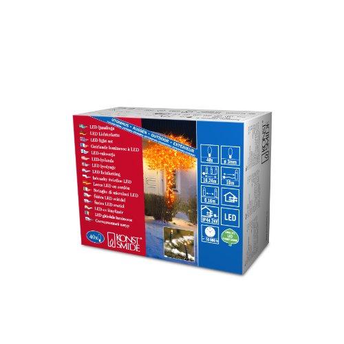 Micro LED Lichterkette / für Außen (IP44) / 24V Außentrafo / 40 orange Dioden / schwarzes Kabel ()