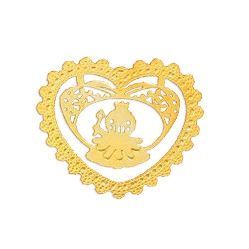 Meisijia Schöne Dove/Katze/Octopus/Deer/Igel/Wal Tier Hohle Lace Metall Mini-Lesezeichen für Geschenke