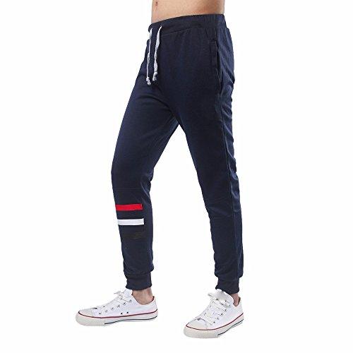 Cebbay Liquidación Pantalones Casuales para Hombres Pantalones Sueltos Informal Comodidad y Autocultivo Pies de Pantalones(Armada, EU Size 4XL = Tag 5XL)