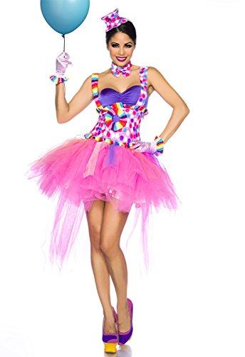 Farbenfrohes Karneval Kostüm `Clown` A13599, (Frauen Kostüme Clown)