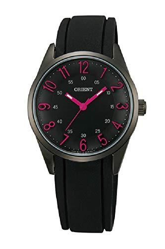 Orient Womens Analogue Quartz Watch with Rubber Strap FQC0R001B0