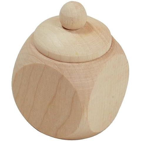 Hofmeister legno erano legno barattolo, con tappo a vite, neutro, lunghezza: 40mm, in legno di acero