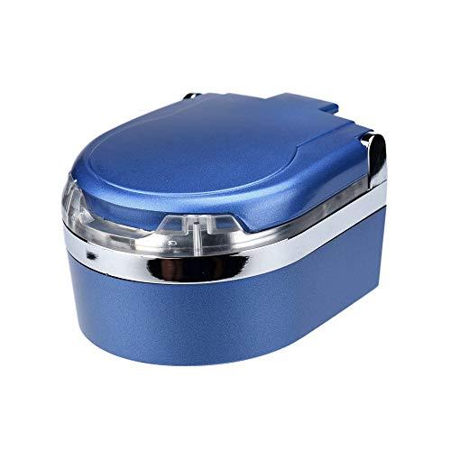 YUANYUAN520 Cenicero Neuer Tragbarer Mini-Aschenbecher Mit Led-Leuchten, Innenraum, Haushaltszigarettenascher Blau Silber, Blau (Blau Led-leuchten Innenraum Auto)