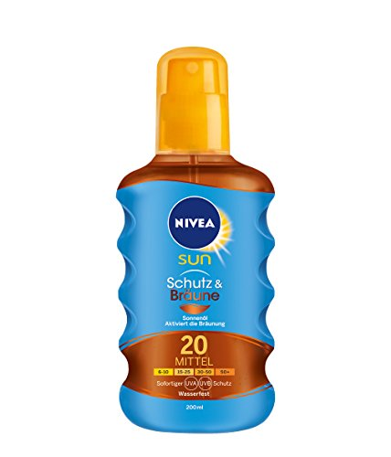 Nivea Sun Protect & Bronze Öl Spray LSF 20, 200 ml, 1er Pack (1 x 200 ml)