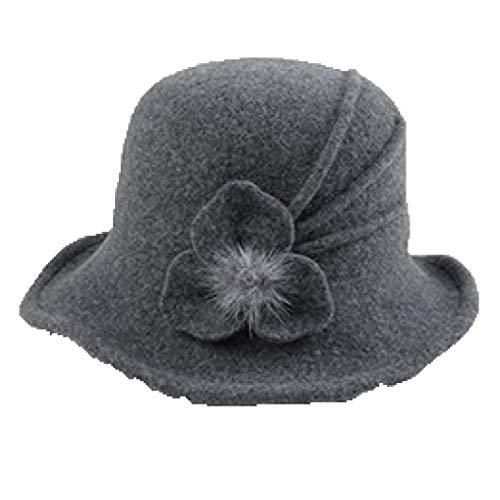 GOUNURE Frauen breiter Krempe Fedora Hats Damen Vintage Cloche Eimer Hut Strand Sonnenhut Fischer Hut mit Blume -