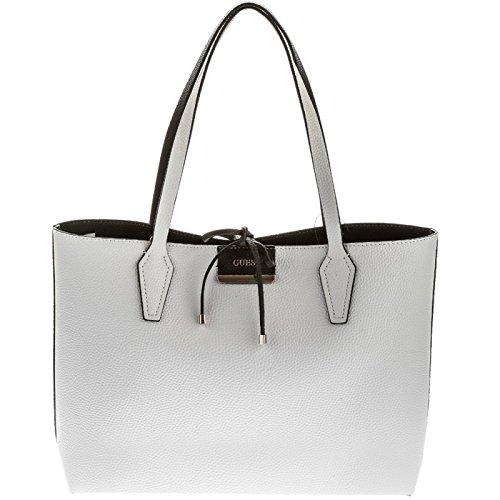 Guess Bobbi, Borsa a Spalla Donna, Multicolore (White Black), 12.5x27x42.5 cm (W x H x L)