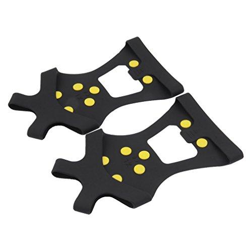 Jiobapiongxin Semelles Anti-dérapantes compactes avec 10 Crampons pour Couvrir Les Pointes durables Poignées Crampon Crampons Équipement de Sport extérieur Universel JBP-X