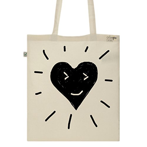 Tote Bag Imprimé Ecru - Toile en coton bio - Love shine and rise