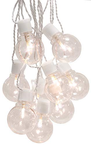 Best Season Party-Kette Party Lights 55 mm, 16-teilig Material Kunststoff, warmweiß LED, circa 4,50 m, Kabel, Outdoor, Vierfarb-Karton, weiß 476-27