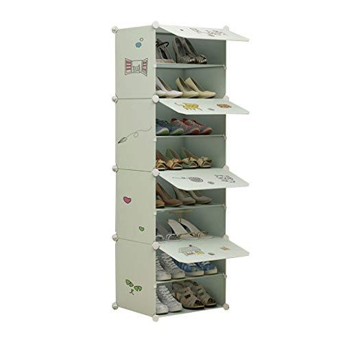 Xiuyun Meuble À Chaussures 8 Rangée Debout Dessin Animé Photos Cube Modulaire Verrouillage Organisateur De Chaussure Pour Le Placard Couloir Chambre (Couleur : A, taille : M)