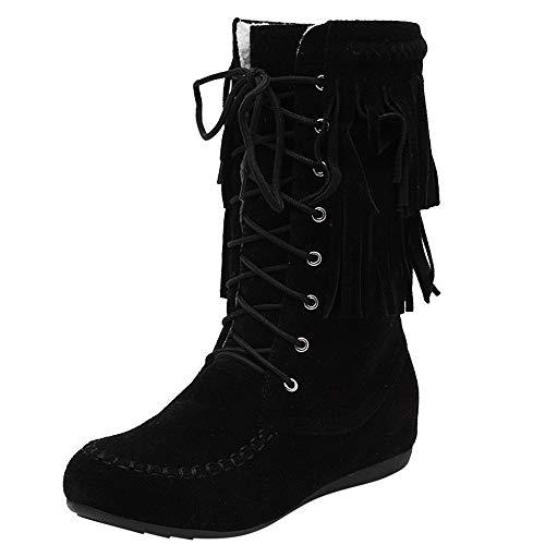 Boot Hiver Femmes Gland Boots Doublure en Molleton Thermique Imperméable Hiver Pluie Neige Bottes Boots Chaussures Lacets