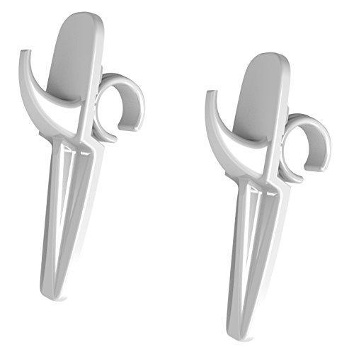 C & P Bauer Toallero Juego de 2–Toalla Gancho para radiadores de baño––Percheros para–Universal–Blanco