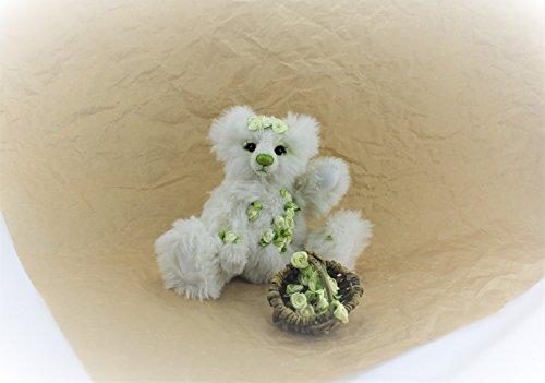 Künstlerbär Schneeweißchen aus dem Atelier derTeddymacherin, 10% Jubiläums-Rabatt (Teddybären Sammlerstücke)
