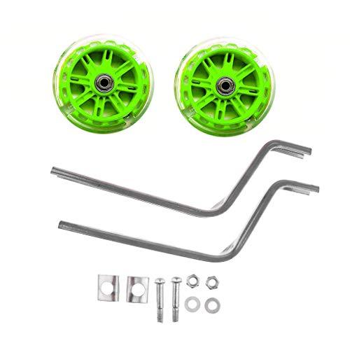 a ray of sunshine Bicicleta Estabilizador Ruedas,Bicicleta Infantil ruedines,Estabilizador de Bicicleta,Ruedas Estabilizadoras,Ruedas De Entrenamiento De Bicicleta,1 Par (Verde)