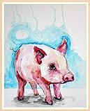Master 5D Décoration murale au point de croix Strass Broderie DIY Artisanat Cochon 9.8x11.8inch Piggy
