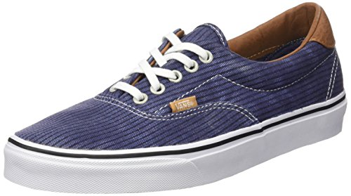Vans Authentic, Sneakers Basses Mixte Adulte Bleu (Washed Herringbone/Navy)
