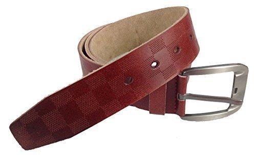Gürtel Echt Leder Herren Damen Ledergürtel Jeansgürtel Belt 3,5 mm braun 125 cm - Leder Echtes Gürtel