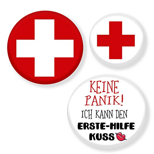 Kreuz Krankenschwester Rot Kostüm - Polarkind Krankenschwester Kostüm Set Anstecker Flirt Accessoire Karneval rotes Kreuz