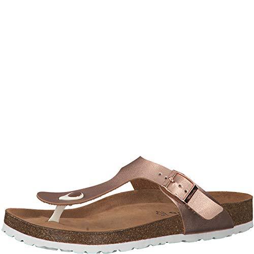 Tamaris 1-1-27531-22 Damen FlipflopsLeder,Sandale,hochwertig,bequem,leicht,Sommer,Strand Schuhe,Rose Gold,38 EU