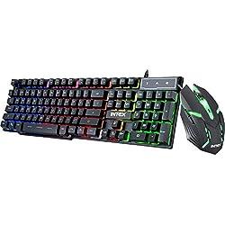 Intex Gaming KB & Mouse Combo-400 Black USB Wired Desktop Keyboard