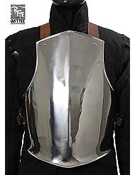 Ready For Battle Medieval de pecho de acero Pecho harnisch de armadura Armadura tanque placa LARP Vikingo Medieval Varios Modelos, Epic Dark, large