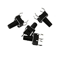 Magideal 100pcs Tactile Push Button Switch Tact Switch Micro Switch 6x6x13mm